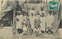 Pays Div-ref R718-afrique - Ethnologie - Village Noir - Cliché Jules Grand - Perpignan  - Pyrenees Orientales - - Afrique
