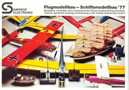 KAT334 Modellbauprospekt Simprop Electronic, 1977, Deutsch, Neu - Littérature & DVD