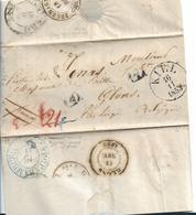 Sch013 / Schleswig-Holstein, Kiel 1853 Via Dän. P.A. Hamburg Nach Belgien - Schleswig-Holstein