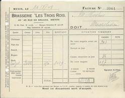 BRASSERIE LES TROIS ROIS 43 RUE DE BRUGES MENIN - Belgique