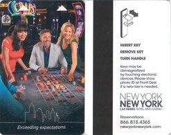 New York New York Exceeding Expections--   Key Card, Room Key, SchLusselkarte, NEW -- 2447 - Hotel Keycards