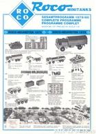 KAT338 Modellprospekt Roco Minitanks Gesamtprogramm 1979/80, Deutsch - Littérature & DVD