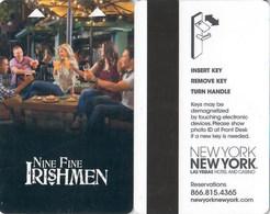 New York New York Nine Fine Irishman--2449----   Key Card, Room Key, SchLusselkarte, NEW -- 2447 - Hotelkarten
