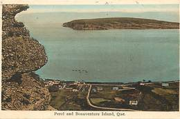Pays Div-ref R712- Canada - Quebec - Percé And Bonaventure Island - Carte Bon Etat  - - Percé