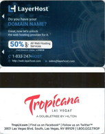 Tropicana Layerhorst----   Key Card, Room Key, SchLusselkarte, NEW -- 2443 - Cartes D'hotel