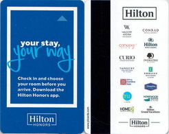 Hilton New !! Your Stay, Your Way--New Backside !!   Key Card, Room Key, SchLusselkarte, NEW -- 2442 - Cartes D'hotel