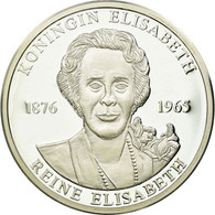 Belgique, Médaille, Reine Elisabeth, 1998, FDC, Argent - Belgique