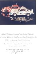 KAT340 Weihnachtskarte Porsche Modell Club Mit Originalfoto - Littérature & DVD