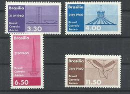 BRASIL YVERT  AEREO 83/86   MH  * - Aéreo