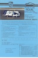 KAT341 Porsche Model Exclusiv, Info 962 C 1985 Mit Originalfoto - Littérature & DVD