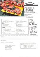 KAT342 Porsche Model Exclusiv, Info 935 IMSA Le Mans 1978 Mit Originalfoto - Littérature & DVD