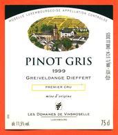 étiquette Vin Pinot Gris 1999 Moselle Luxembourgeoise Greiveldange Dieffert Domaines De Vinsmoselle- 75 Cl - White Wines
