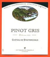 étiquette Vin Pinot Gris 2000 Moselle Luxembourgeoise Chateau De Stadtbredimus Domaines De Vinsmoselle- 75 Cl - White Wines