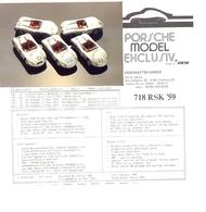 KAT345 Porsche Model Exclusiv, Info 718 RSK '59 Mit Originalfoto - Littérature & DVD