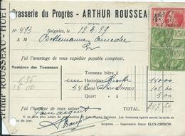 BRASSERIE DU PROGRES - ARTHUR ROUSSEAU SOIGNIES - Belgique