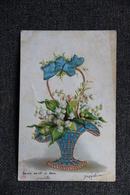Vase De Muguet ( Carte Gaufrée) - Holidays & Celebrations
