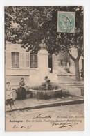 - CPA AUBAGNE (13) - Rue De Guin, Fontaine Docteur Barthélemy 1905 (avec Personnages) - Edition H. Nurbat - - Aubagne