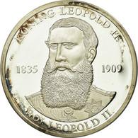 Belgique, Médaille, Roi Léopold II, 1997, SPL, Argent - Autres