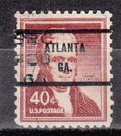 USA Precancel Vorausentwertung Preo, Bureau Georgia, Atlanta 1050-71, Defect - Vereinigte Staaten