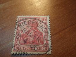 Timbre Deutsches Reich 10 Pfennig Friedrichsfeld ( BADEN ) - Gebraucht