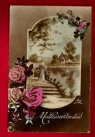 Jolie CP Ancienne Meilleures Amitiés - Ed Mug 876 - M. Nicou Clichy - écrite à Sainte Livière 20-03-1917 Pour P. Enault - Fêtes - Voeux