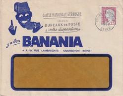 FRANCE 1962 LETTRE ILLUSTREE DE COURBREVOIE BANANIA - Poststempel (Briefe)