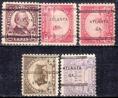 USA Precancel Vorausentwertung Preo, Locals Georgia, Atlanta 247, 5 Diff. Perf. 11x11 - Vereinigte Staaten