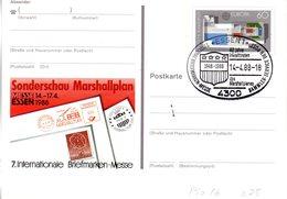 "BRD Amtl. GZS-Sonderpostkarte PSo 16 ""Int. BM-Messe In Essen"" WSt ""Europa 1987"" ESSt 14.4.1988 ESSEN 1 - [7] Repubblica Federale"