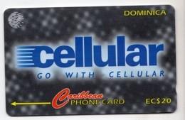 DOMINIQUE REF MV CARDS DOM-173A Année 1997 Cellular CN : 173CDMA - Dominica