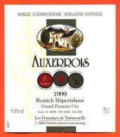 étiquette Vin Auxerrois 1999 Moselle Luxembourgeoise Remich Hopertsbour Vinsmoselle- 75 Cl - White Wines