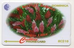 DOMINIQUE REF MV CARDS DOM-138A Année 1997 CN 138CDMA GINGER LILIES - Dominica