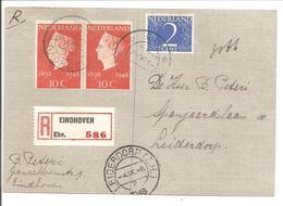 Aangetekende Briefkaart Eindhoven>Leiderdorp 3.9.48 - Periode 1891-1948 (Wilhelmina)