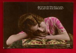 Jolie CP Ancienne Colorisée Quel Est Mon Rêve Etre Douce Et Caline ... Ed Lux 201 - Femme Amour Amoureuse ... - Fêtes - Voeux