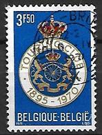 BELGIQUE     -    1971 .   Y&T N° 1569 Oblitéré.    Touring Club  /  Lions  /  Couronne - Used Stamps
