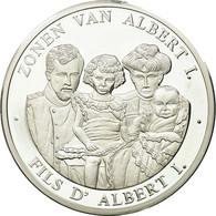 Belgique, Médaille, Le Fils D'Albert Ier, 1999, FDC, Argent - Belgique