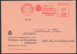 "Wittgensdorf (Bz. Chemnitz) DDR AFS 20.1.51 ""VVB Trikot Trikotagen- U. Strumpffabrik""  Logo Silva Plana - [6] Oost-Duitsland"