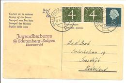 Particuliere Antwoord Briefkaart.Schramberg-Sulgen>Soestdijk.17.5.58/v.Krimpen+Juliana Profiel - Periode 1891-1948 (Wilhelmina)