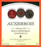étiquette Vin Auxerrois 1999 Moselle Luxembourgeoise Remich Hopertsbour Vinsmoselle - 75 Cl - White Wines