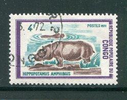 CONGO- Y&T N°321- Oblitéré (hippopotames) - Congo - Brazzaville
