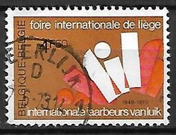 BELGIQUE     -    1973 .   Y&T N° 1684 Oblitéré.    Foire Internationale De Liège - Used Stamps