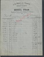 FACTURE DE 1883 ? HOUEL FÉLIX A LA NOUVELLE FRANCE BRASSERIE  À CHATEAU THIERRY : - France