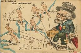 12609 -  Illustrateur -  ORENS :  UN PRESIDENT BIEN EMBARRASSé ( Il Y En A Un Autre) - Circulée En 1902  Humour - Orens