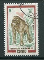 CONGO- Y&T N°322- Oblitéré (singes- Gorilles) - Congo - Brazzaville