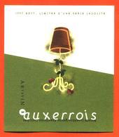 étiquette Vin Auxerrois 1997 édition Limitéé Moselle Luxembourgeoise Vinsmoselle - 75 Cl - White Wines