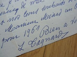 Louise TAGNARD (1879-1970) PEINTRE Académie Jullian. La Tronche (38) AUTOGRAPHE à Victor MIARD - Autographes