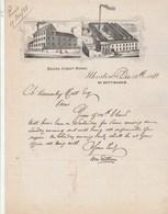 Royaume Uni Facture Lettre Illustrée 15/12/1881 Belper Street Works ILKESTON Nr Nottingham - United Kingdom