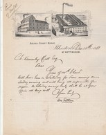 Royaume Uni Facture Lettre Illustrée 15/12/1881 Belper Street Works ILKESTON Nr Nottingham - Royaume-Uni