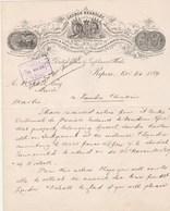 Royaume Uni Facture Lettre Illustrée 14/11/1889 GEORGE KEARLEY Agricultural Engineer RIPON - Royaume-Uni