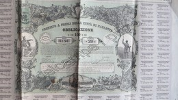 Obligation De La Ville De Barletta (Italie). 1870. - Actions & Titres
