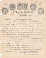 Royaume Uni Facture Lettre Illustrée 1/2/1896 SPEAR & JACKSON Aetna Works SHEFFIELD - Royaume-Uni